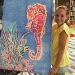 Tania's Arthouse holiday art-jess