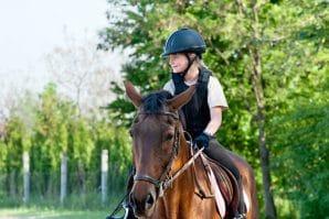 girl horse riding in brisbane