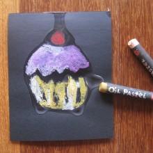 handmade cupcake card