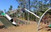Big tube slide in a park