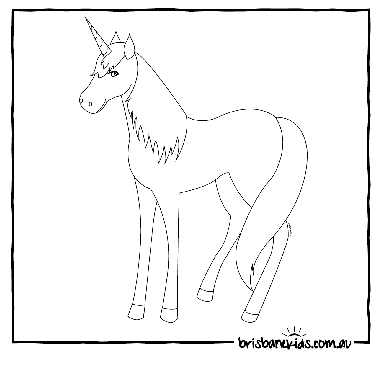 click here to download and print bk unicorn printable unicorn colouring in