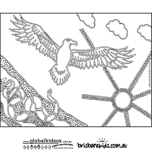eagle and snake colouring in - Colouring Ins