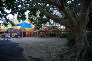 shaded playground logan