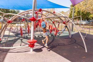 Hawthorne Park digger monkey bars