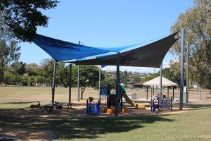 shade sails over playground