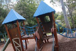 wobbly bridge and fort playground