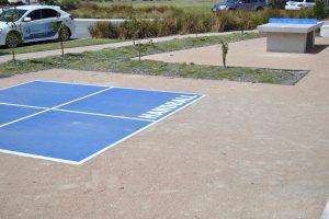 handball court.