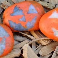 Sarah's Jack-O-Lantern Rocks