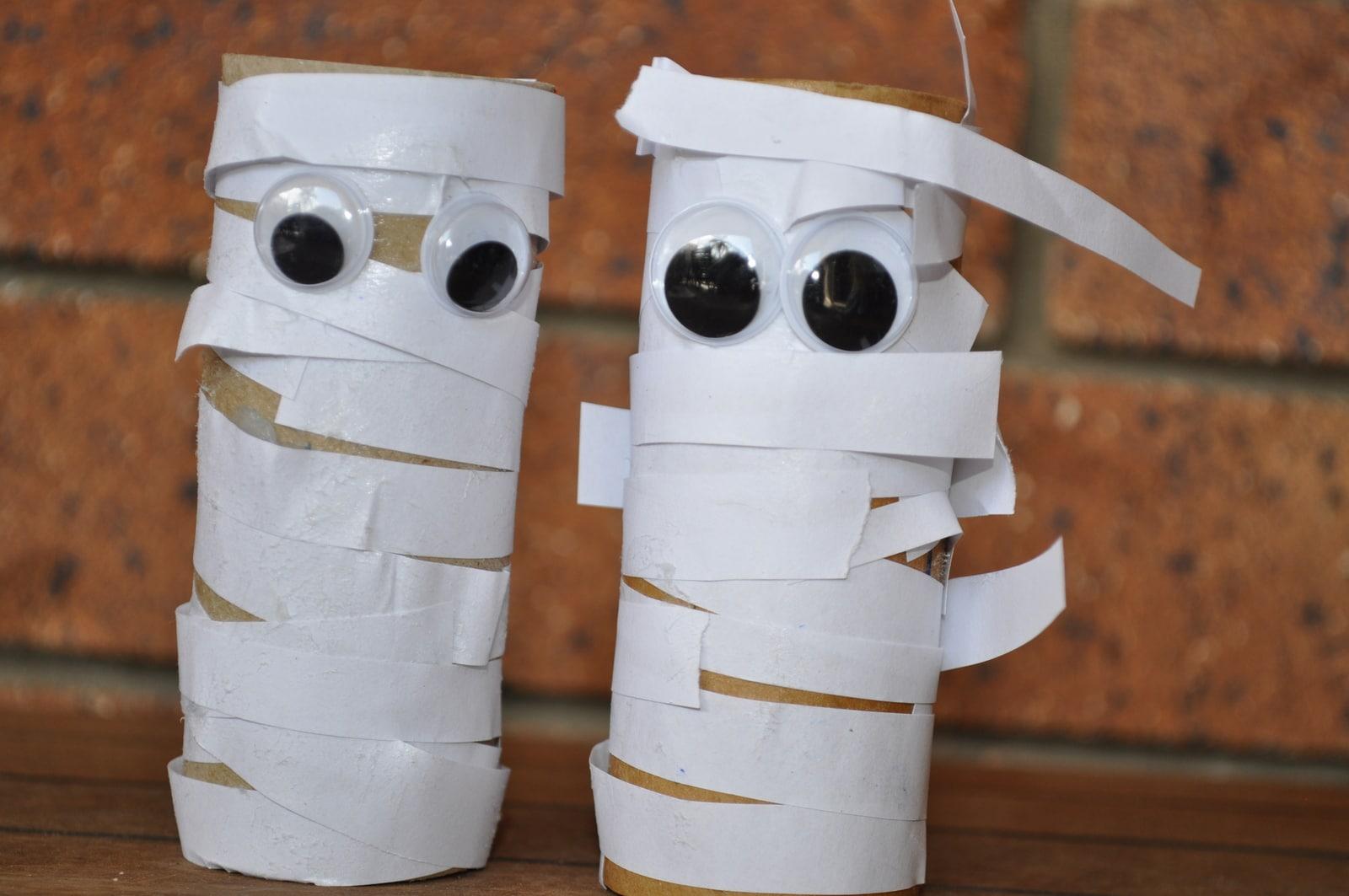 Scary Egyptian Mummy Halloween Craft Brisbane Kids