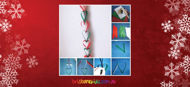 Christmas Heart Paper Chain