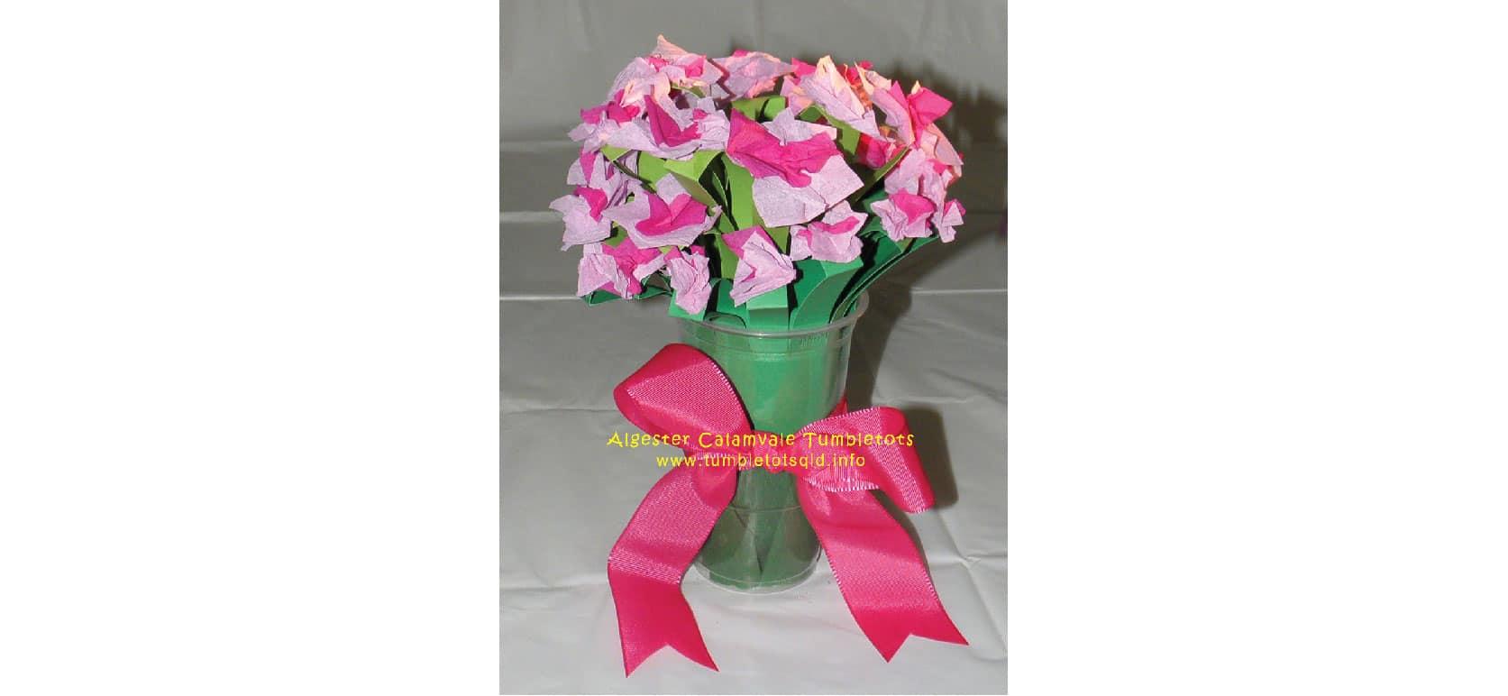 Easy flower bouquet craft brisbane kids easy flower bouquet craft paper flowers jeuxipadfo Gallery