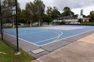basketbal court.