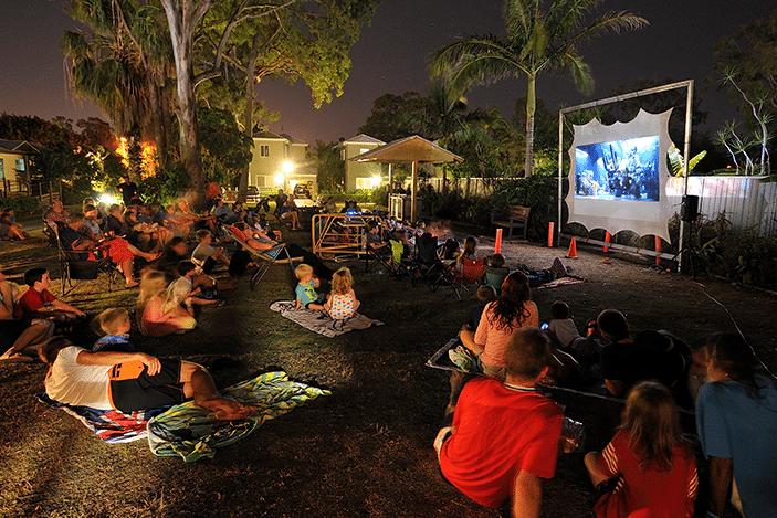 outdoor movie ar treasure island resort