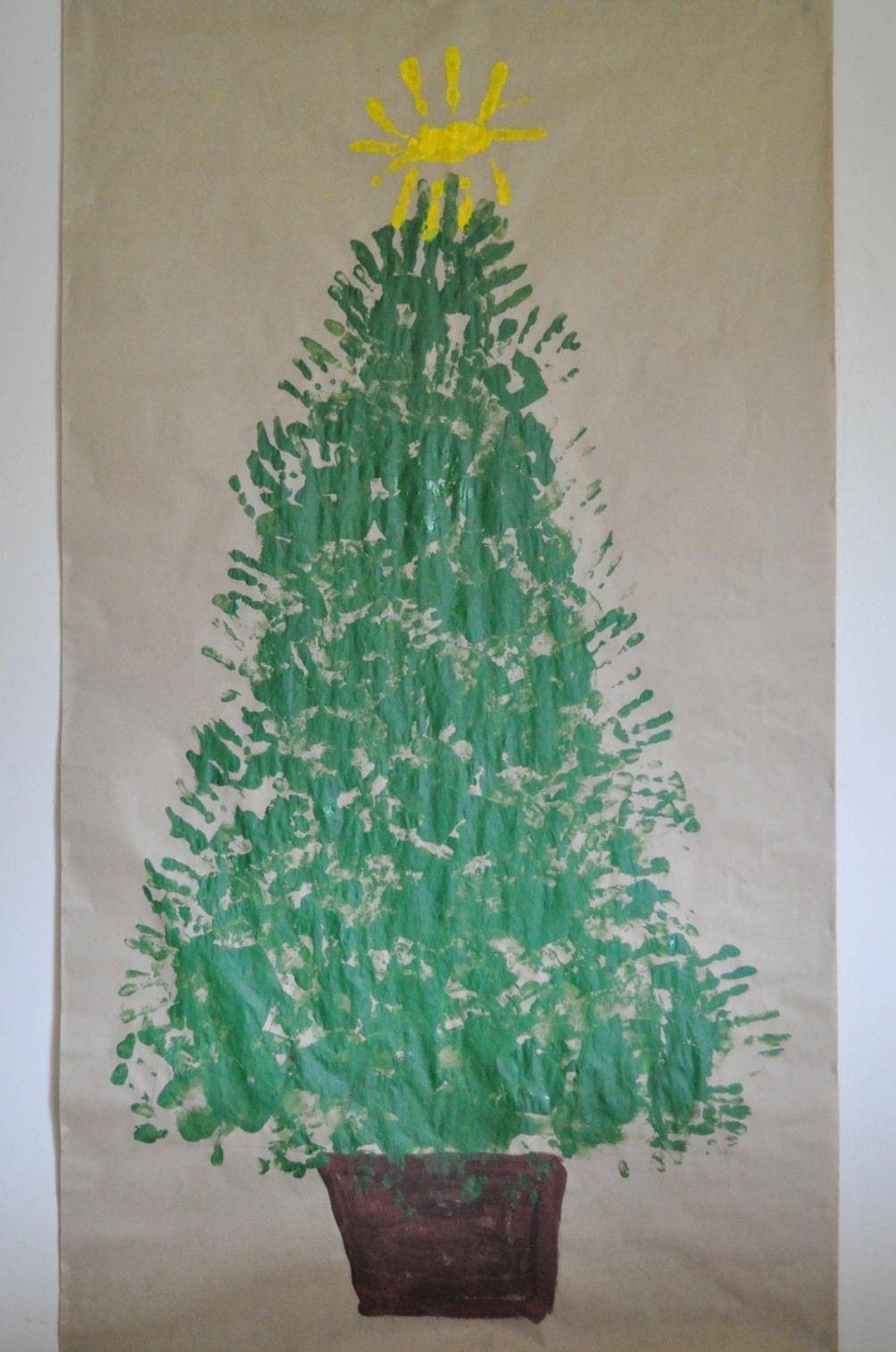 Handprint Christmas Tree | Festive Fun • Brisbane Kids