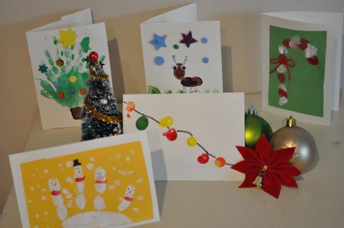 Homemade christmas card ideas to do with kids brisbane kids