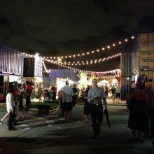 Eat Street Northshore at night