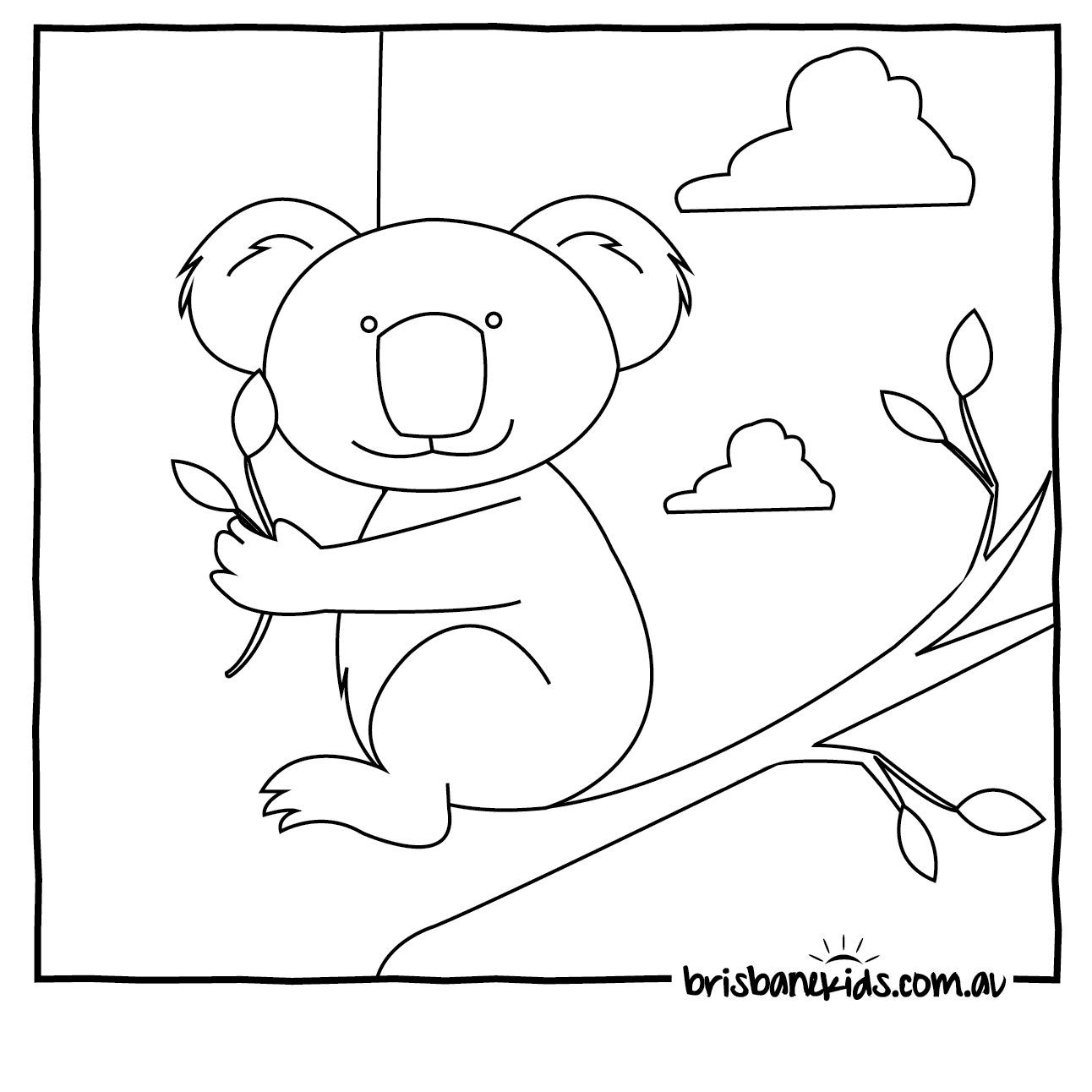 koala colouring in - Picture For Colouring
