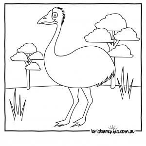 emu colouring in