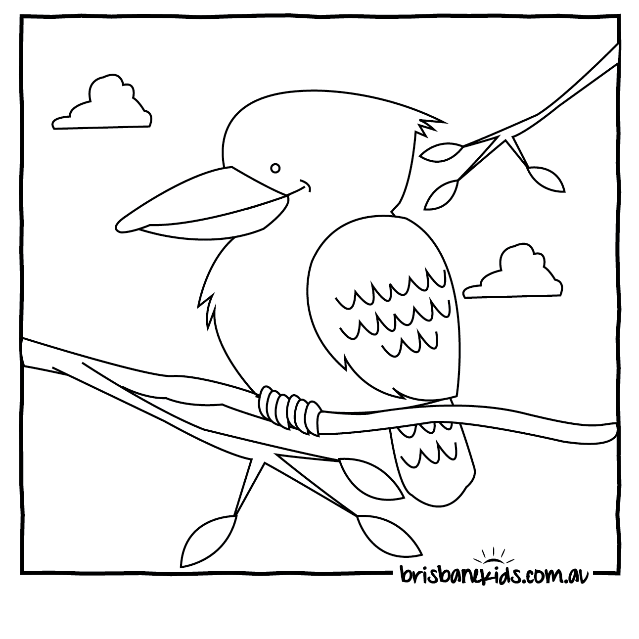 Collouring: Australian Animals Colouring Pages