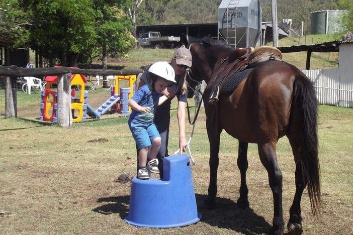 Pony ride at Gap Creek