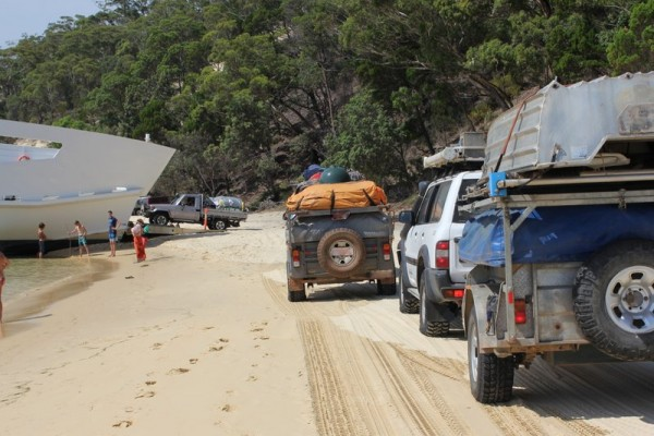 North Point Campground Moreton Island