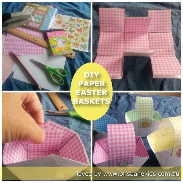Basket Making Using Newspaper : Diy paper easter baskets brisbane kids