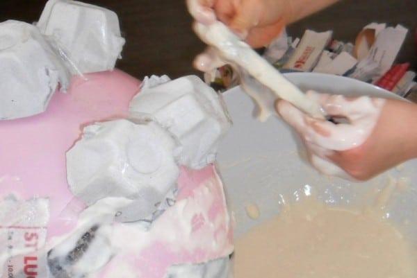 How to make a papier mache piggy bank