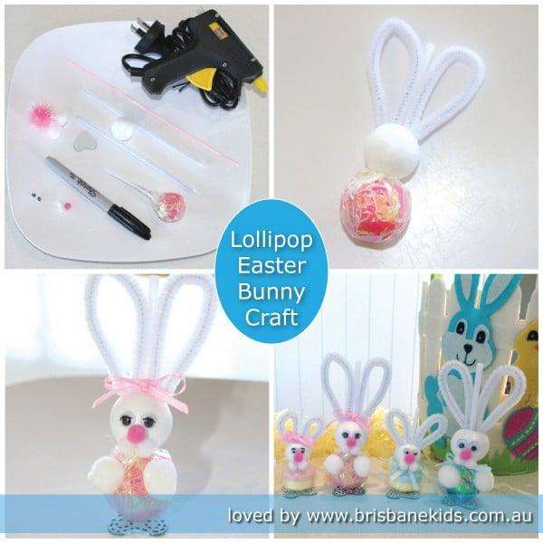 Lollipop bunnies easter craft brisbane kids easter craft negle Images