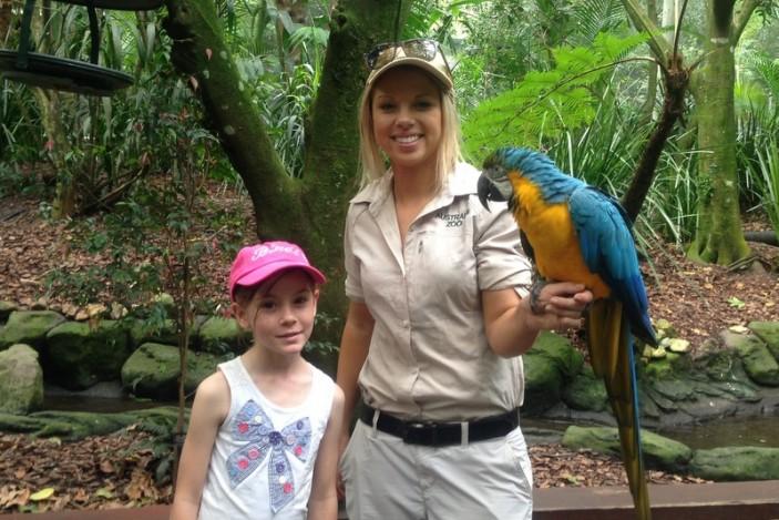 Roving wildlife at Australia Zoo