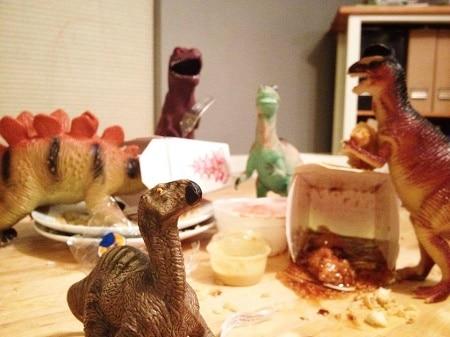 eating dinosaurs