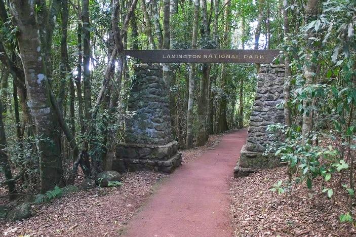 lamington national park entrance.