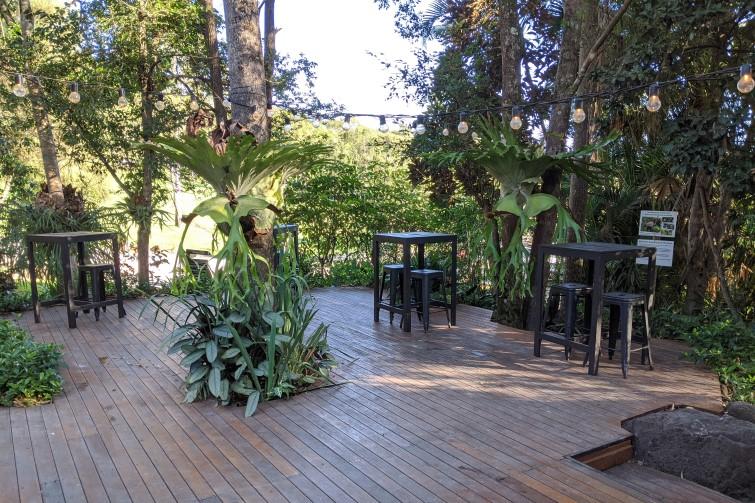 Rainforest Restaurant outdoor deck at Thunderbird Park