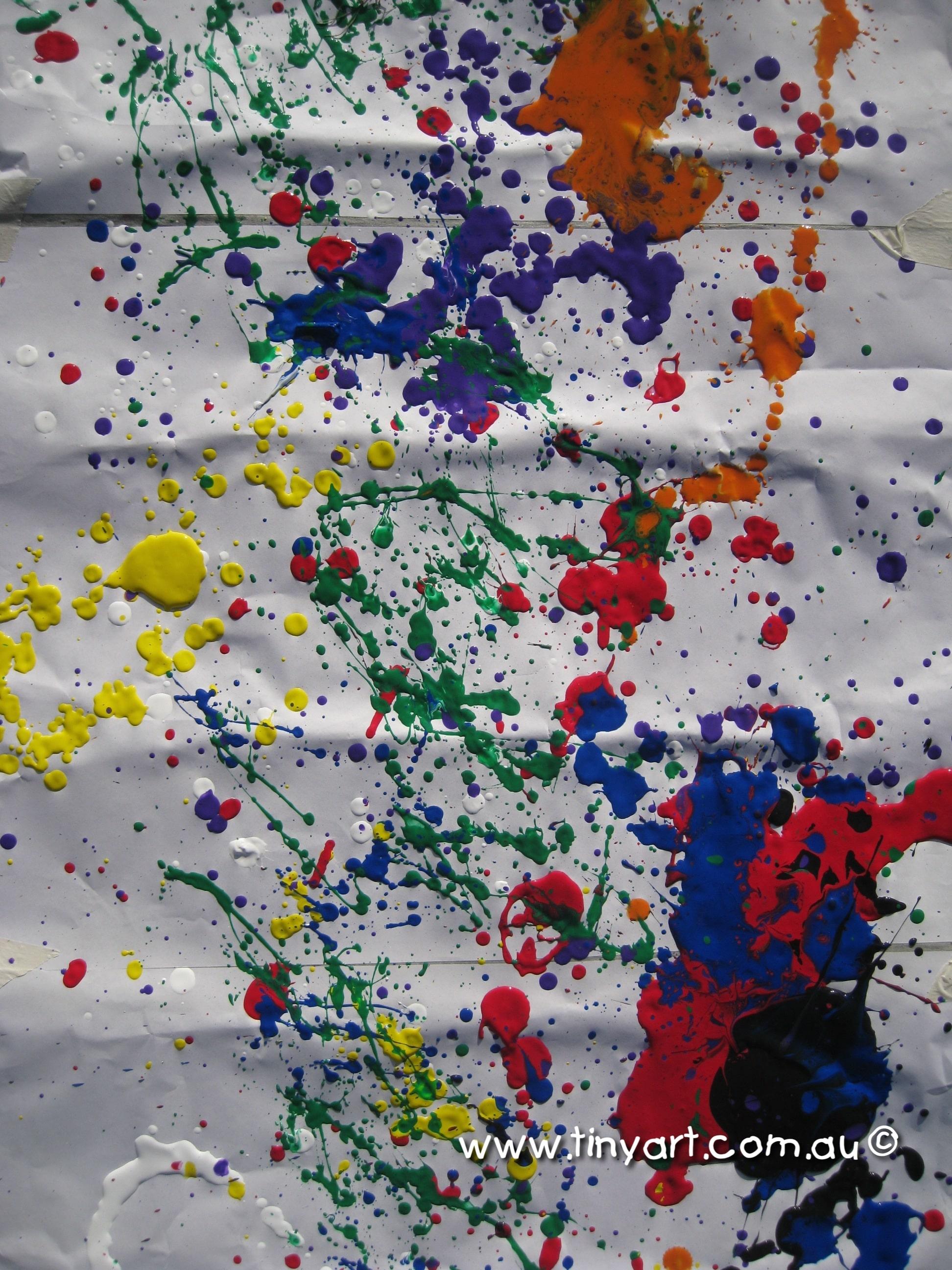 Splat Paint Art Brisbane Kids