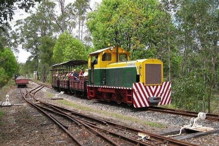 heritage train on the tracks