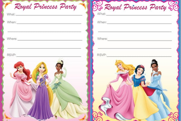 16 ideas for the perfect princess party • brisbane kids, Birthday invitations