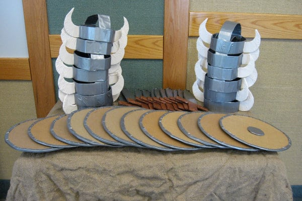 How to train your dragon party ideas for kids brisbane kids viking helmets and shields ccuart Image collections