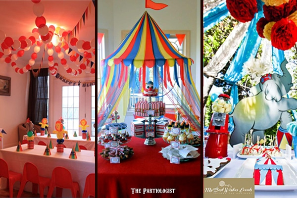 roll up 16 big top circus party ideas. Black Bedroom Furniture Sets. Home Design Ideas