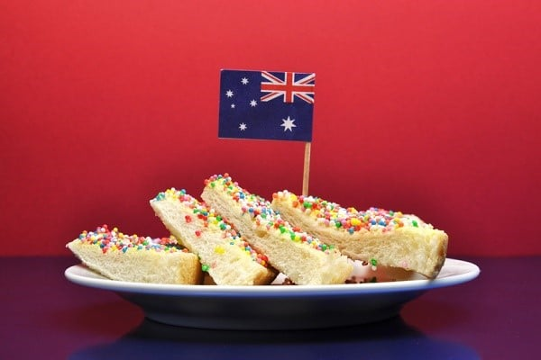 fairy bread for Australia Day