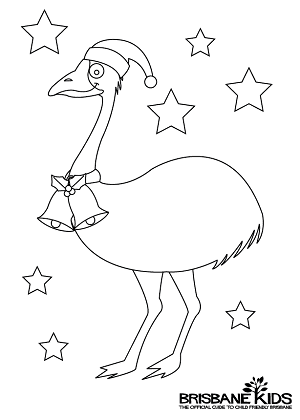 Christmas Colouring In From Australia
