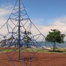Climbing structure at Crockatt Park