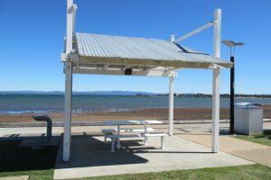 seaside picnic table
