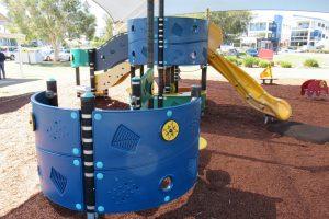 kids fort with slide