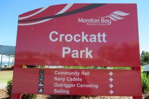 red crockatt park sign
