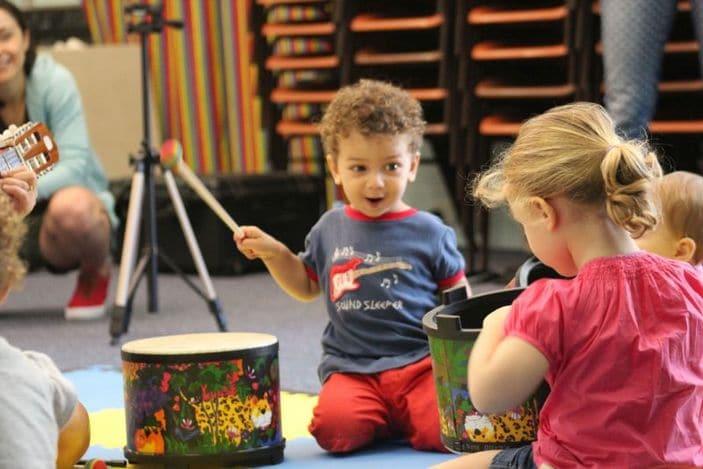 boppin babies drum fun and kids playing