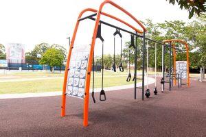fitness equipment at frew park milton.