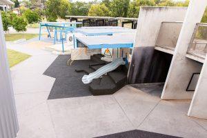birds eye view of frew park playground.