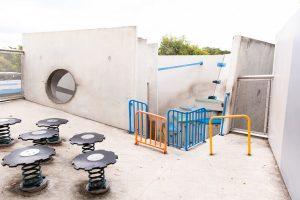concrete playground.