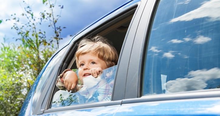 child in car alone