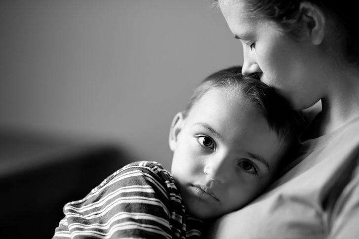 sad mum helicopter parent