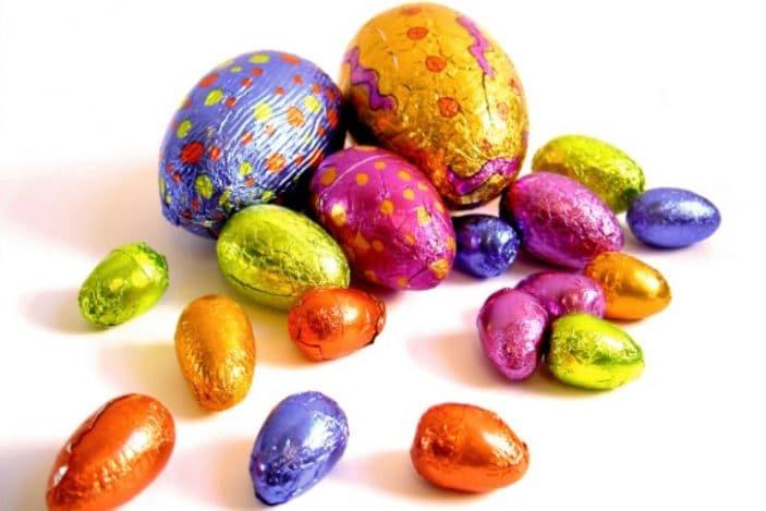 easter egg hunt, chocolate easter eggs